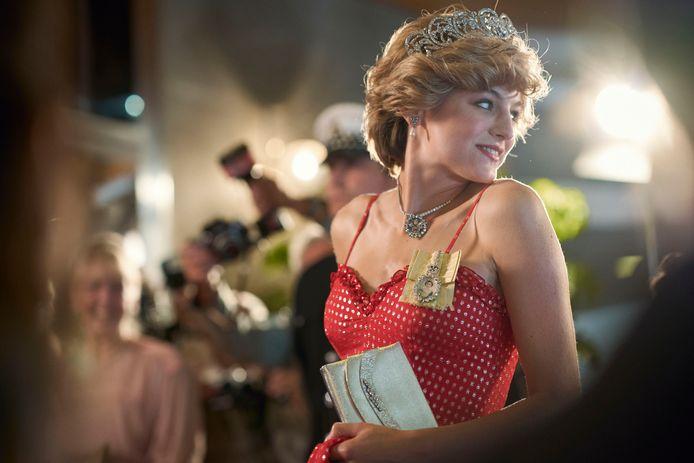 Emma Corrin als prinses Diana.