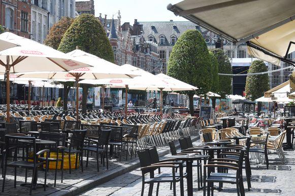 De Oude Markt woensdagmiddag.