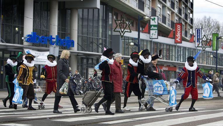 Albert Heijn gebruikt geen Zwarte Pieten meer in reclame-uitingen. Beeld anp