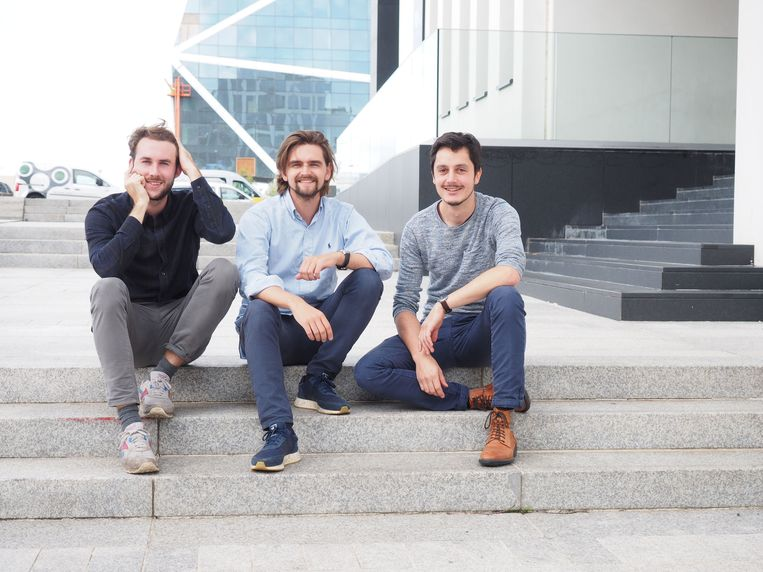 Thomas Verschuere, Charles Boutens en Jasper Verplanken, oprichters van uman.ai.
