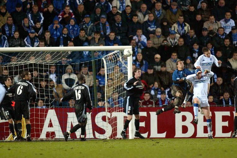 Wesley Sonck scoorde in 2002 tegen Real.