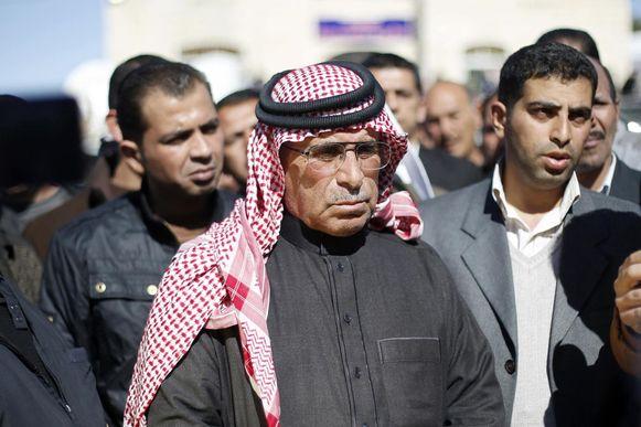 Saif al-Kasasiba, de vader van de levend verbrande piloot.