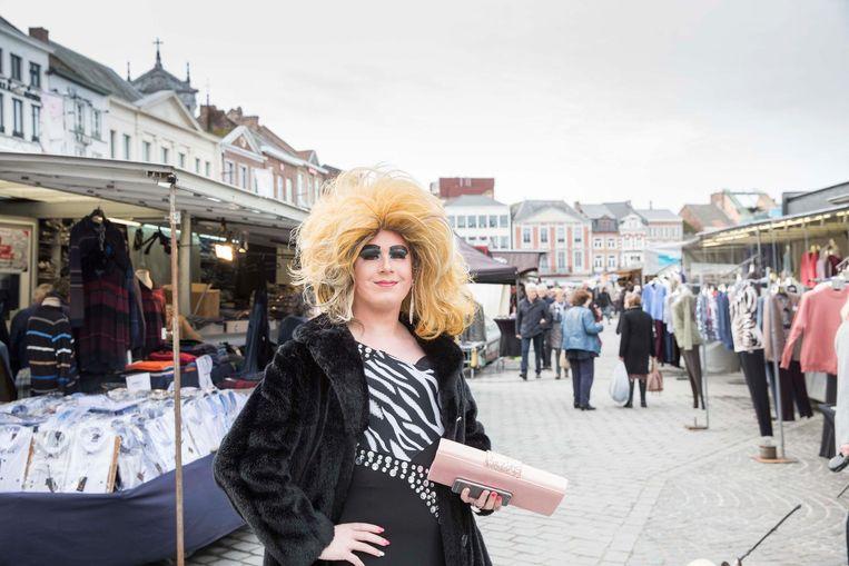 Missy Jane op de Markt in Sint-Truiden.