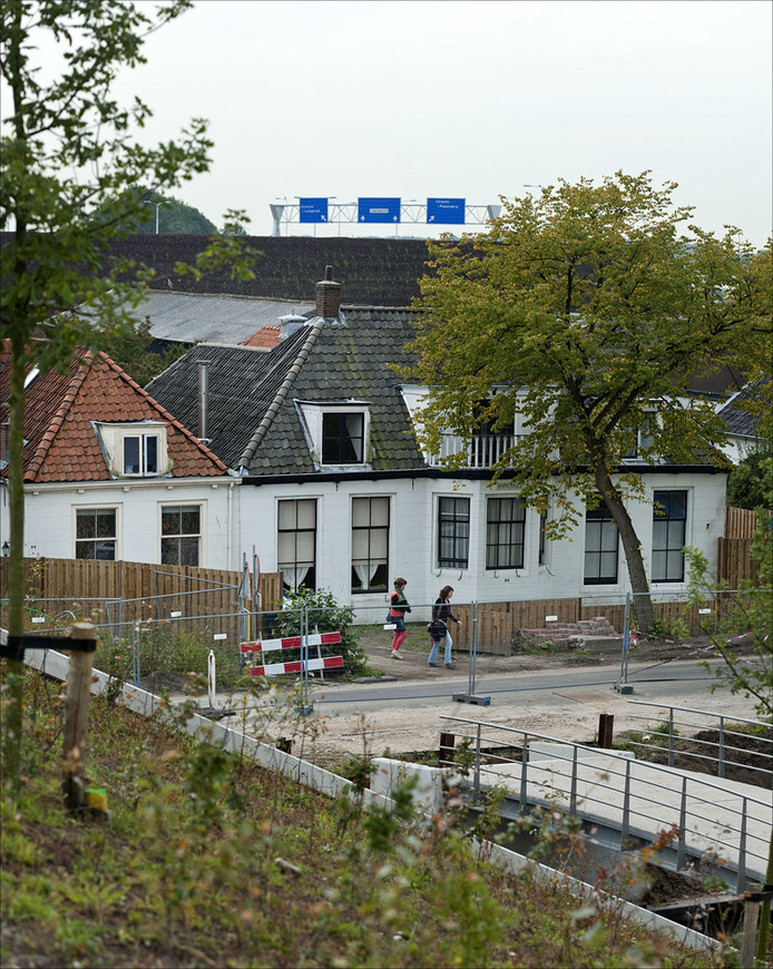 Exterieur van het huis van de Utrechtse Romafamilie Nicolich. © ANP