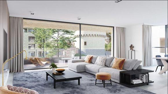 De appartementen zijn lichtrijk en modern.