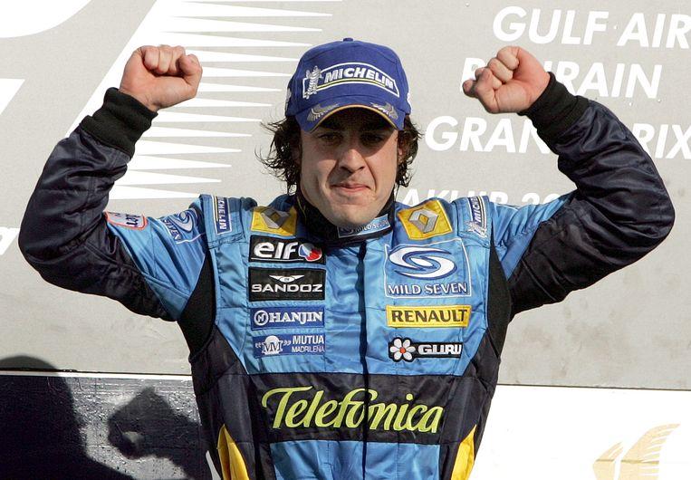 Fernando Alonso in zijn eerste jaren bij Renault.