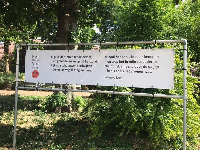 Een gedicht van Johanna Kruit is te lezen bij Laverhof in Heeswijk-Dinther.