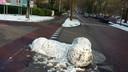 Puberale sneeuwpret in Wageningen.