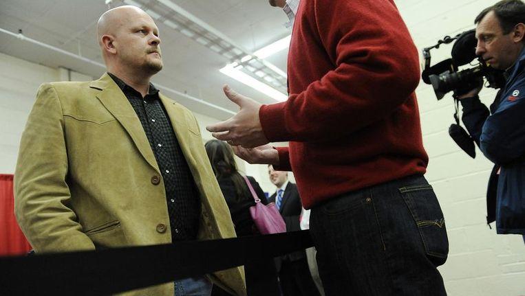 Joe the Plumber: 'One size fits all werkt niet voor de staten.' Beeld reuters
