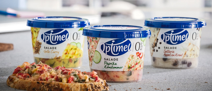 De drie soorten frisse salades.