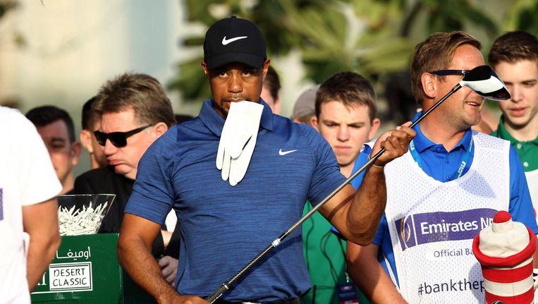 Tiger Woods in actie Beeld anp