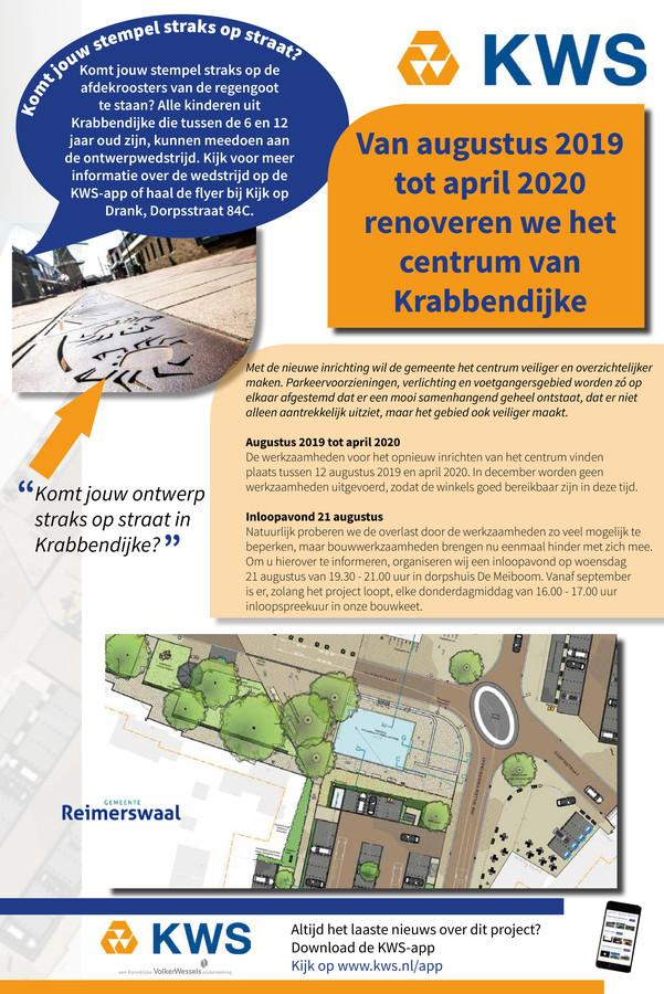De flyer voor de tekenwedstrijd van KWS