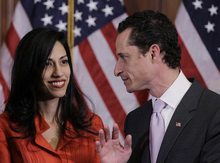 Huma Abedin en echtgenoot Anthony Weiner.