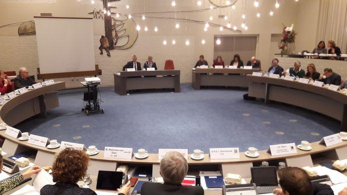 De gemeenteraad van Soest vanavond in vergadering bijeen.