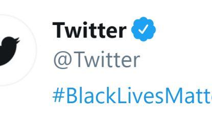 Twitter verandert kleur logo en betuigt steun met #BlackLivesMatter