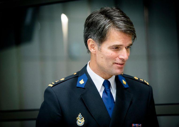 Erik Akerboom, de huidige korpschef, maakt zich zorgen over het gebrek aan onderlinge correctie in zijn organisatie. Beeld anp