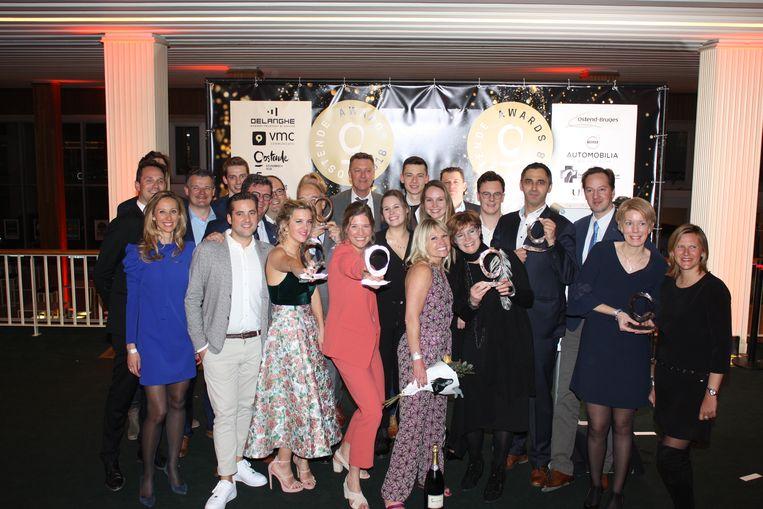 Alle winnaars samen op de Oostende Awards