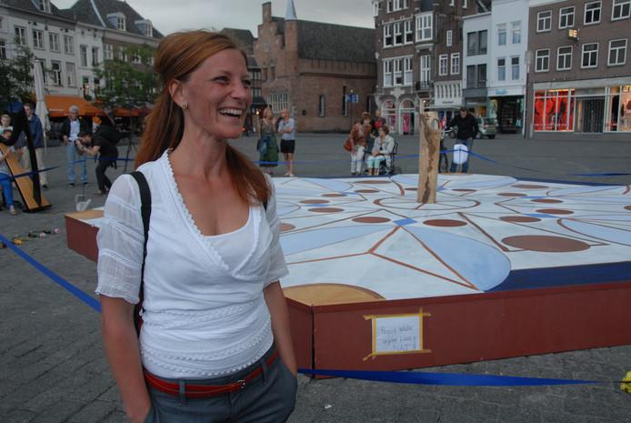 Nelleke de Noo voor haar kunstproject 'Water'