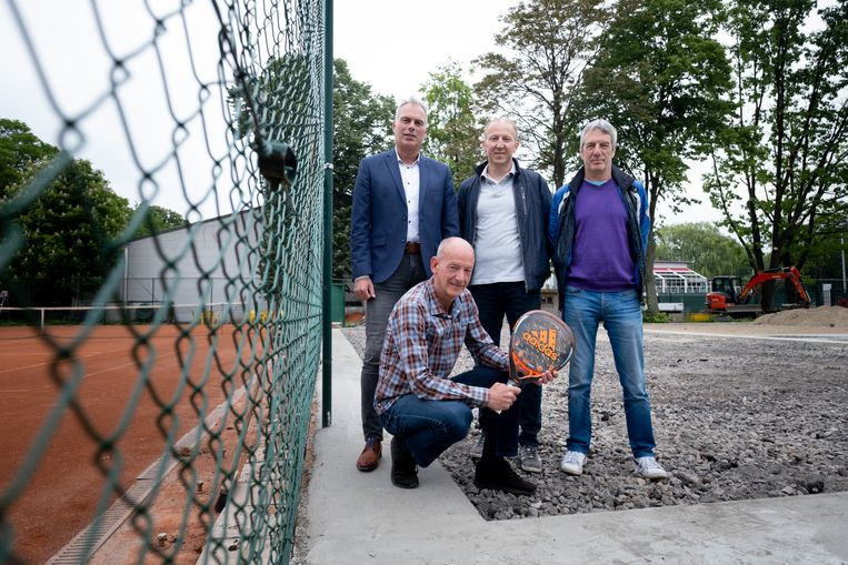 TC Duvels Willebroek legt 3 padelvelden aan: Hendrik Boey, Dominique De Moor, Walter Maes en David Walschap