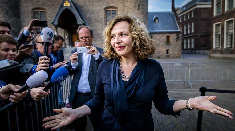Informateur Edith Schippers geeft een toelichting op de verkenningsronde van de kabinetsformatie. D66 en de ChristenUnie gaan niet verder onderhandelen over de vorming van een kabinet.  Beeld ANP