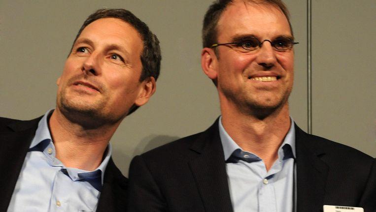 Managers van Studio 100 Gert Verhulst en Hans Bourlon.