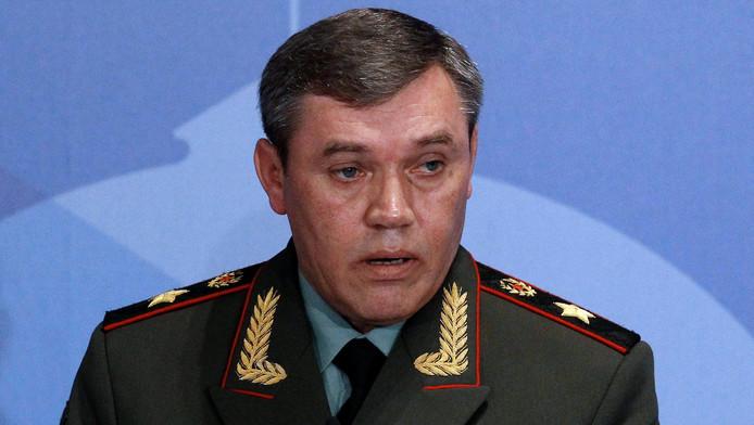 La liste inclut le chef d'état-major des forces armées russes, Valery Gerasimov