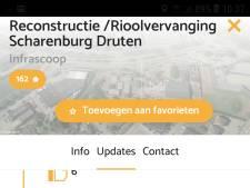 Reconstructie uitvalsweg Scharenburg in Druten is per app te volgen