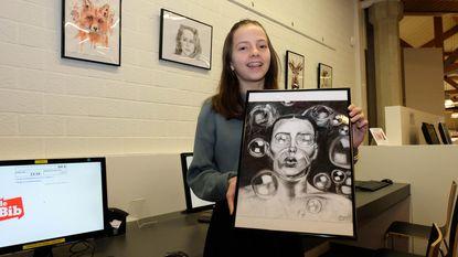 12-jarige stelt eerste keer kunst tentoon