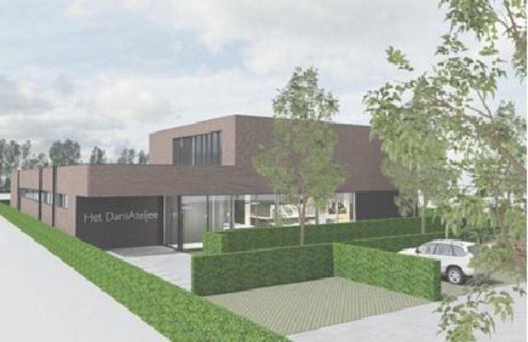 Een toekomstbeeld van de dansstudio aan de Meylweg.