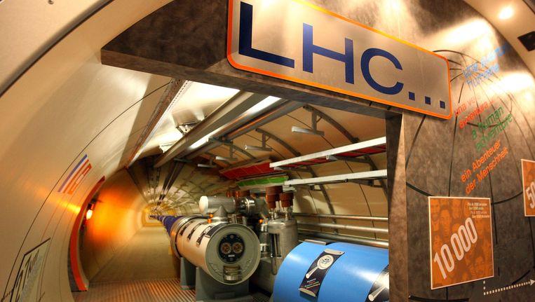 De deeltjesversneller van het Europees Centrum voor Kernonderzoek (Cern) in Genève, de Large Hadron Collider (LHC). Beeld getty