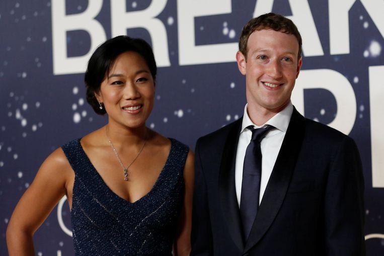 Mark Zuckerberg met zijn vrouw Priscilla Chan, die zijn liefdadigheidsinitiatief aanstuurt.
