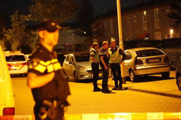 De politie doet onderzoek na de steekpartij