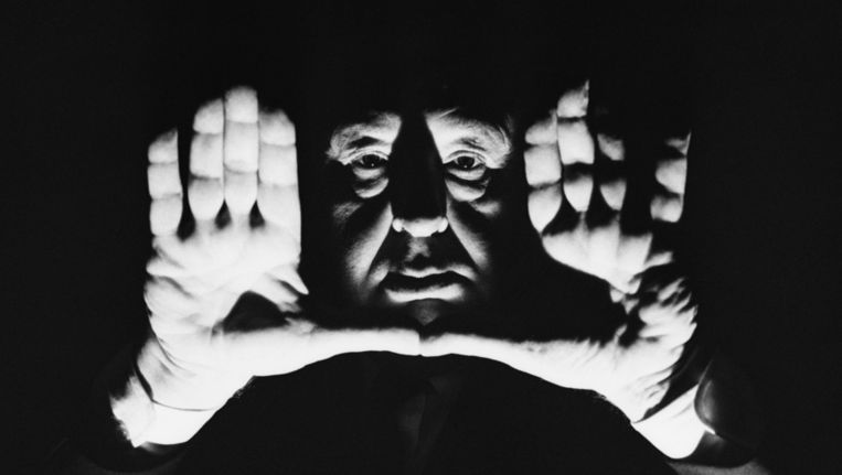 Alfred Hitchcock in 1964. Beeld null