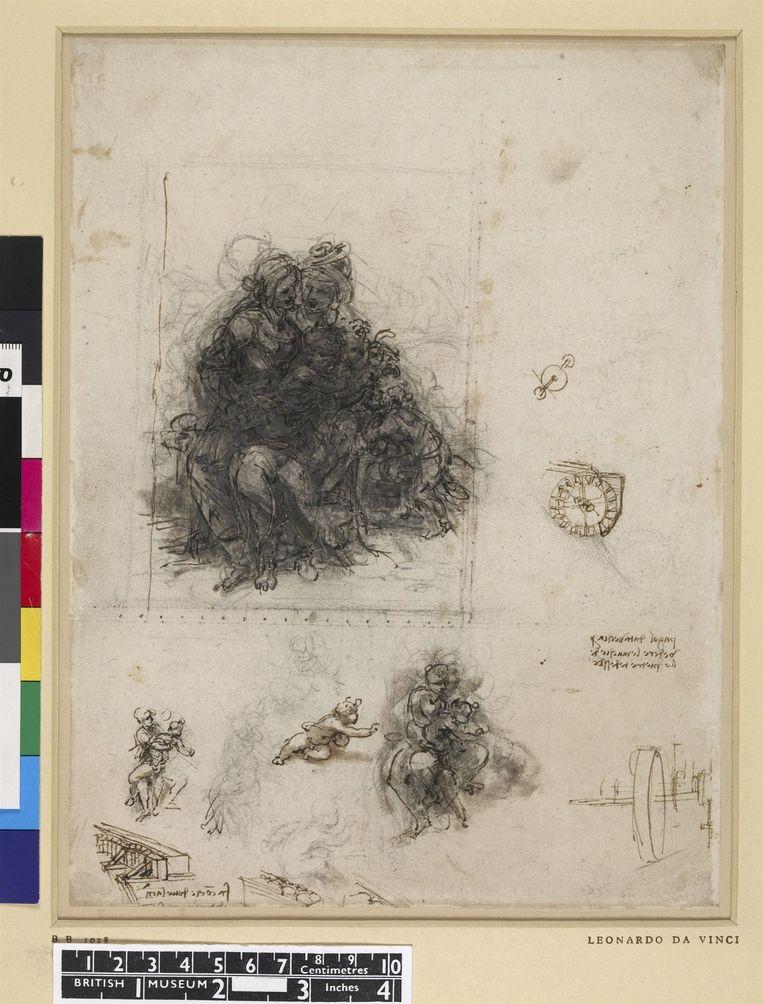 Onderzoeksschets van Leonardo Da Vinci. Beeld The British Museum