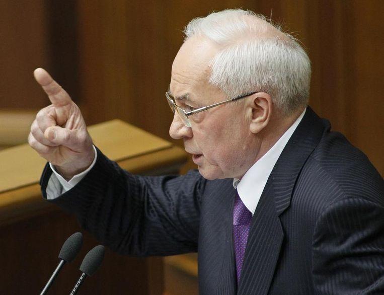 Premier Mykola Azarov Beeld reuters