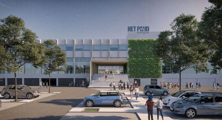 Een blik op de toekomstige nieuwe toegang aan de kant van de parking in de Meersstraat.