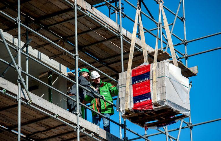 Een bouwplaats in Utrecht. Beeld ANP