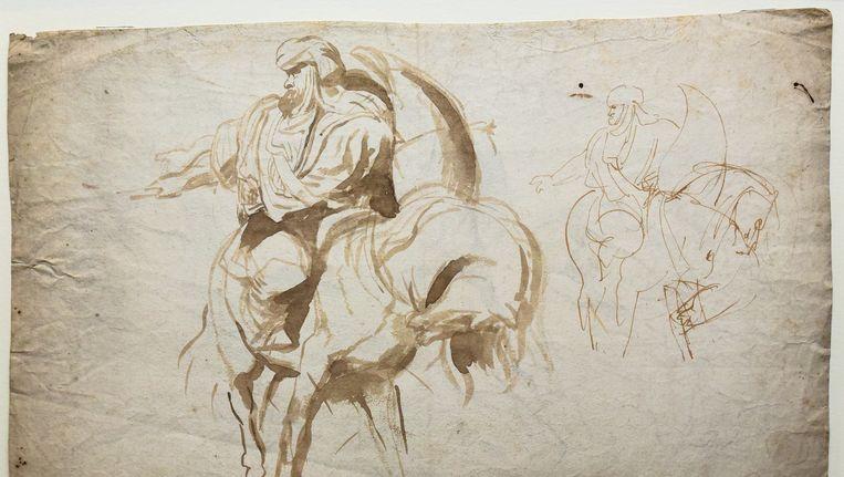 Deze Rubenstekening werd gisteravond voor 670.000 euro geveild.