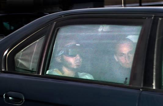 Samir A. arriveert bij de 'bunker' in Amsterdam, archieffoto uit 2006.