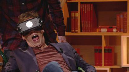 Hilarisch: James Cooke weet niet wat hem overkomt tijdens deze 'Virtual Reality'-ervaring