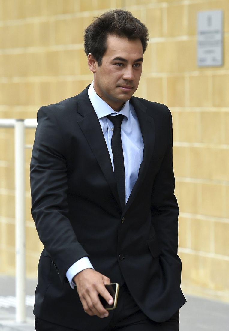 Nick Lindahl, kort nadat hij in de rechtbank had toegegeven een tenniswedstrijd te hebben verkocht. Beeld reuters