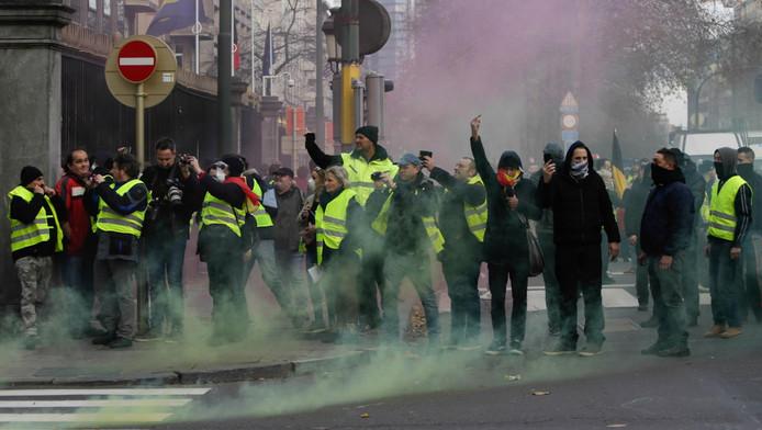 """""""Gilets jaunes"""" près des institutions européennes"""
