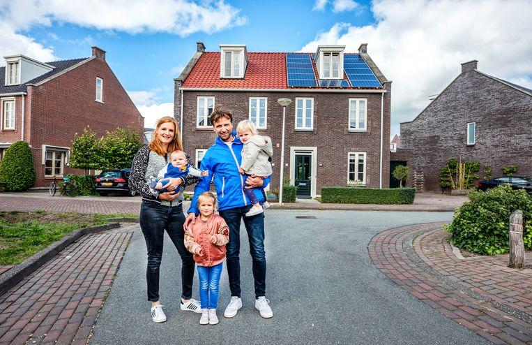 De familie Welman uit Vleuterweide.  Beeld Raymond Rutting / de Volkskrant