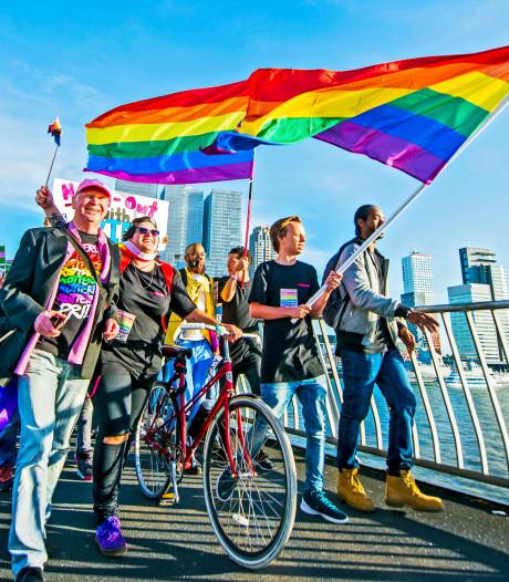 De straten in Rotterdam krijgen kleur tijdens de Rotterdam Pride