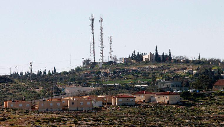 Een Israëlische nederzetting op de Westelijke Jordaanoever.