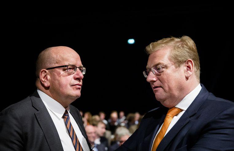 Ard van der Steur met Fred Teeven Beeld anp