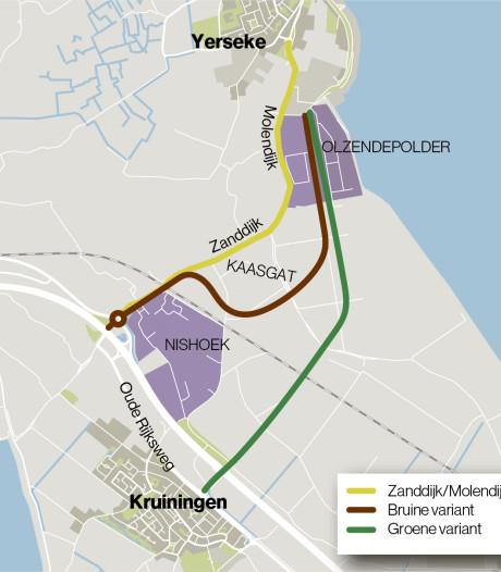 Deur nog op een kier voor ander tracé Zanddijk tussen Zanddijk en Yerseke