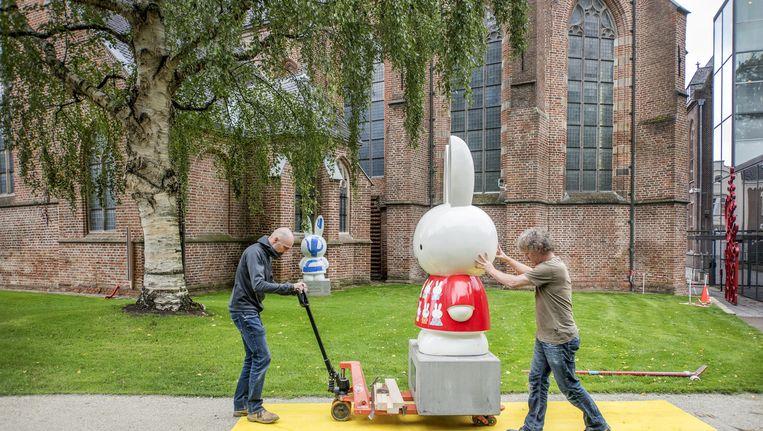 Nijntje wordt verplaatst naar de binnenplaats van het Centraal Museum in verband met vandalisme Beeld null