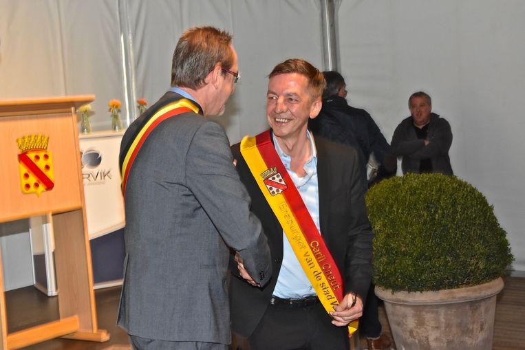 Carll Cneut (rechts) is sinds dit voorjaar ereburger van Wervik.