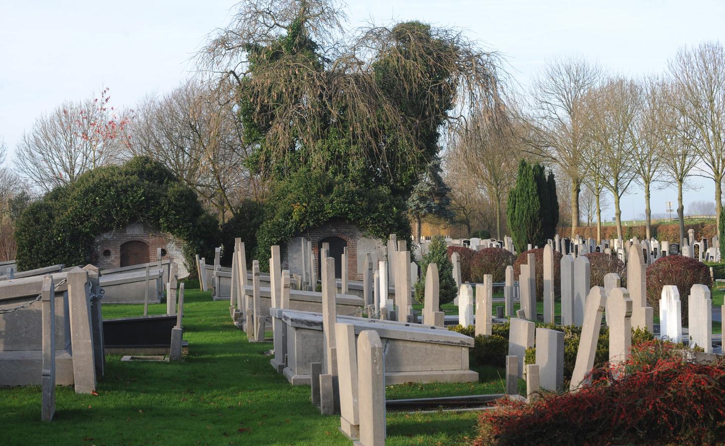 Beeld van de begraafplaats in Tholen.